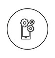 work phone gear icon line vector image