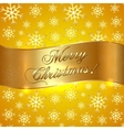 Yellow Background with Snowflakes and Greeting vector image vector image