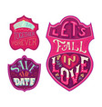 you and me together forever lets fall in love vector image vector image