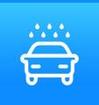 car wash sign vector image
