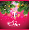 merry christmas with vector image