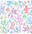 robots pattern vector image