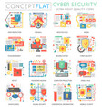 infographics mini concept online communication vector image