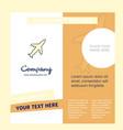 aeroplane company brochure template busienss vector image vector image