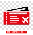 Airtickets Eps Icon vector image vector image