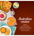 australian cuisine food menu meals dishes cover