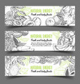 banner with natural exotic fruits vector image vector image