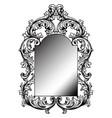 baroque mirror frame round decor design vector image vector image