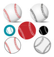 baseball ball realistic logo icon in white vector image