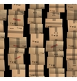 Brown carton delivery packaging boxes vector image