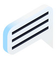 bubble chat icon isometric style vector image