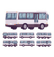 bus black-white set vector image