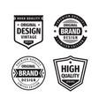 business badges set in retro vintage design vector image vector image