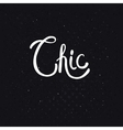 Chic Text on Dotted Abstract Black Background vector image vector image