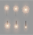 christmas bright sparkler vector image