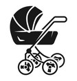 classic baby stroller icon simple style vector image vector image