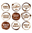 Coffee labels watercolor dirty espresso cup ring