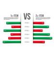 creative of service comparison vector image