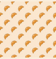 croissant seamless background pattern vector image