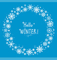 decorative frame with winter hand drawn vector image