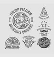 delicious original italian pizza house monochrome vector image vector image