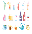different drinks vector image vector image