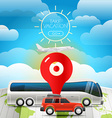 Different vehicle tour concept Take vacation vector image vector image