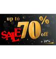 Discount sale banner vector image vector image