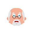 doctor scared emotion avatar physician fear emoji vector image vector image