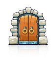 fairy-tale door with golden vector image