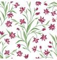 floral seamless pattern flower background floral vector image vector image