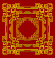 frames in the chinese style set of golden vector image vector image