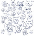 Funny cats contour Suitable for childrens stories vector image vector image
