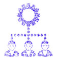 gear hierarchy workers icon grunge watermark vector image vector image
