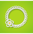 green background with a frame vector image