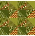 green traditional ornament patchwork pattern vector image vector image