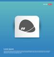 halmet icon - blue sticker button vector image