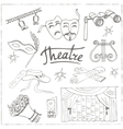 Hand drawn doodle Theater set vector image