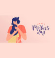 happy mothers day mom hug daughter banner vector image