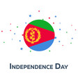 independence day of eritrea patriotic banner vector image vector image