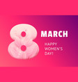 international womens day march 8 banner with vector image