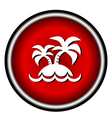 island icon on white background vector image vector image