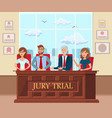 jury trial workers in court flat