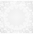 lace border on gray background vector image vector image