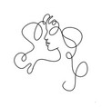 line drawing a beautiful woman 12 vector image vector image