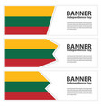 lithuania flag banners collection independence day vector image vector image
