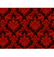 luxury ornamental background red damask floral vector image vector image