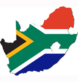 Map of South Africa with national flag vector image vector image