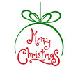 merry christmas ball with white background vector image vector image