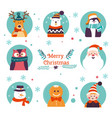 merry christmas winter holiday traditional vector image